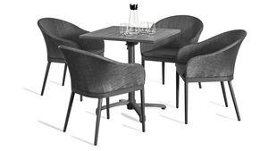 Grasekamp Terassenset Sol 5 teilig Klapptisch und  4x Sessel Aluminium/Textilene