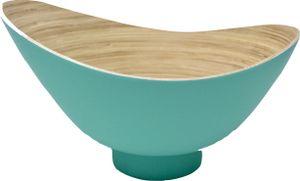 KeMar KitchenwareBambus Obstschale | Schale Aquamarin 32 cm