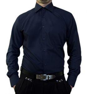 Designer Herren Hemd bügelleicht klassischer Kragen K11 Herrenhemd Kentkragen viele Farben, Größe klassische Hemden:46 / XXL, Farbe Klassische Hemden:Dunkelblau