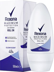 6 x Rexona Maximum Protection Clean Scent Anti-Transpirant Deo Roll-on je 50ml