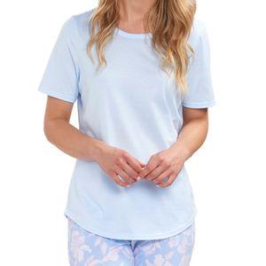 Rösch Damen Schlafanzug Shirt - kurzarm Hochwertig verarbeitet, Zum selbst kombinieren, Atmungsaktiv