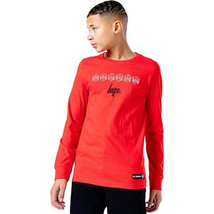 Hype Kinder T-Shirt Justhype Lego Ninjago Langarm HY3427 (140) (Rot/Weiß)