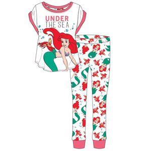 Disney Damen Schlafanzug mit Arielle-Motiv Under The Sea 578 (38/40 DE) (Weiß/Pink)