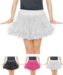 weißes Damen Tutu für Ballet Fasching Karneval Tüll Rock kurz weiß