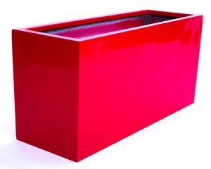 Blumentrog Fiberglas 108x38x50cm hochglanz rot