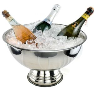 Sektkühler Edelstahl Champangerschale Kühler Champanger Flaschenkühler Wein Schale