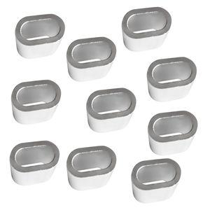 10-teiliges Pack - Drahtseilklemmen Drahtseil Hülsen Pressklemmen aus Aluminium Größe 5mm