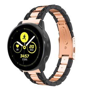 Armband Samsung Galaxy Watch 42mm schwarz roségold - 20 mm