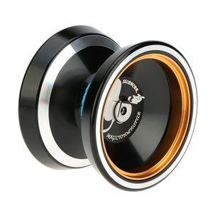 Professionelle Magie Yoyo M001 Aluminium-Legierung Yo-yo CNC-Drehmaschine T Lager mit Spinning String fuer Jungen Maedchen Kinder Kinder schwarz