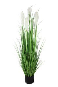 Künstliches Pampasgras Deko Gras Gräser Kunstpflanze