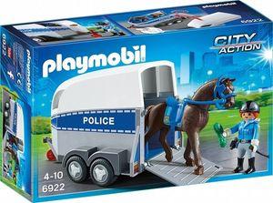 Playmobil 6922 | City Action | Polizei mit Pferd und Anhänger | Polizist Police