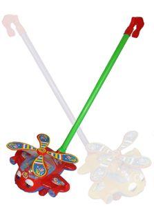 Schiebespielzeug Schiebelaufrad Kleinkind Spielzeug Hubschrauber ROT