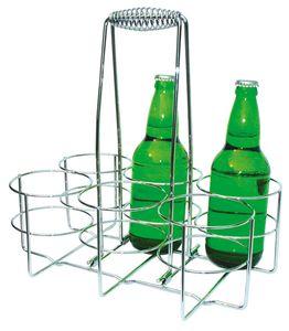 APS Flaschenträger  /// 32 x 21,5 cm, H: 32,5 cm  /// Metall, verchromt  /// für 6 Flaschen  /// 630