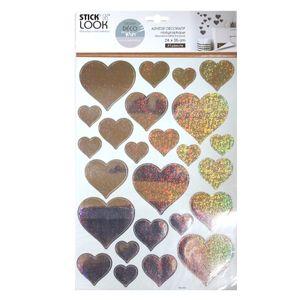 Herz Aufkleber holographische Sticker Glitzer Wandtattoo
