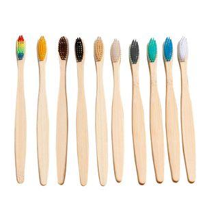 10 Teile / satz Natš¹rliche Bambus Zahnbš¹rsten Weiche Borsten Bambus Griff Zahnbš¹rste fš¹r Home Hotel Reise Verwenden