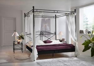 Design Himmelbett 140 cm schwarz Venezia