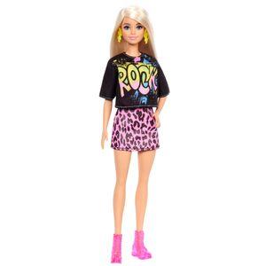 Barbie Fashionistas Puppe im rockigen T-Shirt und Rock, Anziehpuppe