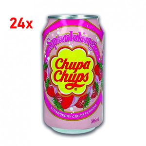 Chupa Chups Sparkling Strawberry Cream 24x345ml - inkl. Pfand