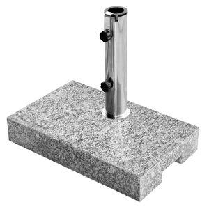 Sonnenschirmständer Granit 25kg Balkonständer max. 48mm Stamm - hellgrau - Grau