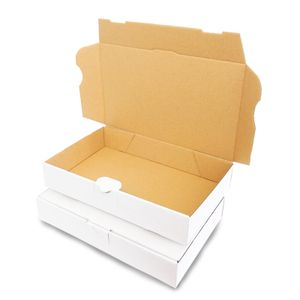 verpacking 5 Maxibriefkartons Versandkartons Faltschachtel Faltkarton Maxibrief 240 x 160 x 45 mm | Weiss | MB-3