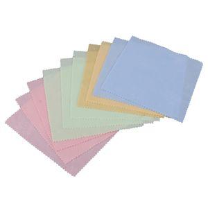 10 Stücke Doppelseitig Mikrofaser Reinigung Trockentuch Reinigungstuch Putztuch Staubentfernung Tuch für Schmuck Objektivreinigung