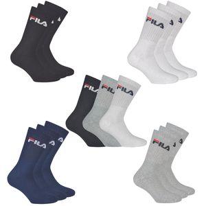 FILA 3er Pack Socken Weiß, Größe:43-46