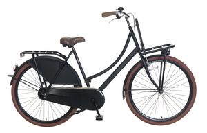 Popal Transportfahrräder Damen Carrier 28 Zoll 57 cm Frau Felgenbremse Schwarz