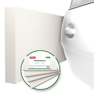 ATHLON TOOLS 4x MaxProtect Premium Garagen-Wandschutz selbstklebend - je 40 x 20 x 2,0 cm - Rammschutz Prallschutz Garagenpolster Türkantenschutz (Weiß)