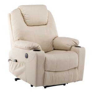 MCombo Elektrisch Aufstehhilfe Fernsehsessel Relaxsessel Massage Heizung USB 7040CW