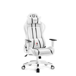 Diablo X-One 2.0 Gaming Stuhl für Kinder Bürostuhl Schreibtischstuhl Verstellbare Armlehnen Ergonomisches Design Nacken/-Lendenkissen (Weiß, Kindergröße)