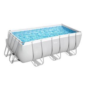 Power Steel™ Frame Pool-Set, eckig, mit Filterpumpe & Sicherheitsleiter 412 x 201 x 122 cm