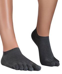 Knitido Track & Trail Running Mates Sneaker-Zehensocken, Größe:39-42, Farbe:Light Charcoal (894)