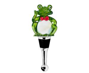 Flaschenverschluss Frosch für Champagner, Wein und Sekt, Höhe 11 cm, Muranoglas, Handarbeit