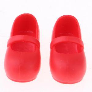 1/6 BJD Schuhe Freizeitschuhe für Monster High Doll Kleidung Zubehör Rot wie beschrieben
