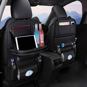 2x Auto Rücksitz Organizer, Auto Seat Organizer, Auto Organizer Rücksitz Protector Kick Mats, Autositztasche Rückenlehnentasche, Schwarz