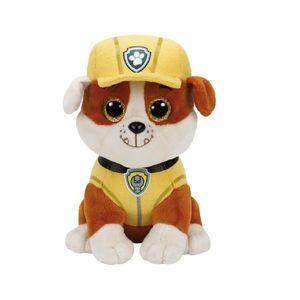 TY Beanie Boos Glubschi Paw Patrol Rubble 15cm Hund Stofftier Plüschtier klein
