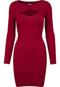 Urban Classics Damen Ladies Cut Out Dress TB1742, color:burgundy, size:M