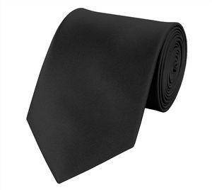 Unifarbene Krawatten von Fabio Farini, klassische Breite 8cm, perfekt für besondere Anlässe wie Hochzeiten und Weihnachten, oder für´s Büro, Krawatten8cmSet1:Schwarz