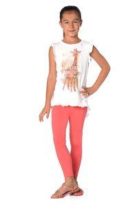 Mädchen Kinder Leggings in 23 Farben Baumwolle, Koralle 104