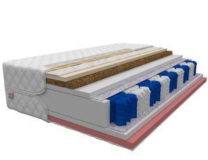 Matratze 180 x 200 cm ACTIVE 7 Zonen H3 Premium Taschenfederkern Visco Memory Schaum + Latex + Kokos Höhe ca 21 cm