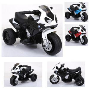 Kinderfahrzeug - Elektro Kindermotorrad - Dreirad - Lizenziert von BMW - Modell 188-Schwarz