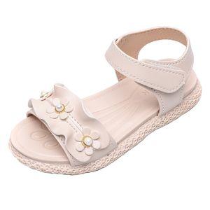 Mädchen Spitze Perle weiche Sohlen Prinzessin Schuhe rutschfeste lässige Babysandalen Größe:28.5,Farbe:Beige