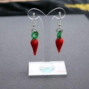 2 Stück Ohrringständer aus transparentem Acryl Schmuck-Organisator