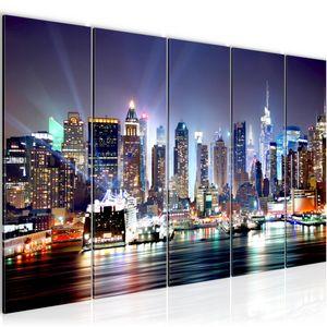 New York City BILD 200x80 cm − FOTOGRAFIE AUF VLIES LEINWANDBILD XXL DEKORATION WANDBILDER MODERN KUNSTDRUCK MEHRTEILIG 605555a