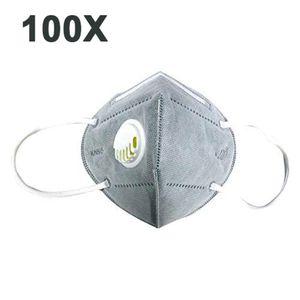 100 PCS KN95 Maske Atemschutzmaske Maske (≥95\\% = ≥ 94\\% ) Atemschutz Mundmaske Hygienemaske Wiederverwendbar N95, 100X