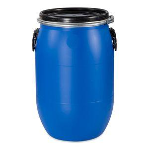 60 Liter Deckelfass, Kunststofffass, Futtertonne, Fass, Weithalsfass Farbe blau (60 D)