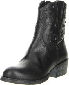 Méliné Damen Stiefeletten Echtleder Cowboy schwarz, Größe:37, Farbe:Schwarz