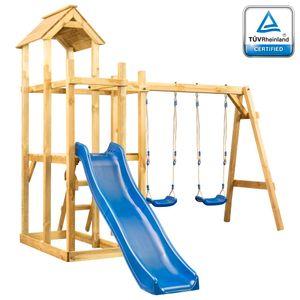 vidaXL Spielturm (ohne Rutsche ) Schaukel Leiter 285 x 305 x 226,5 cm