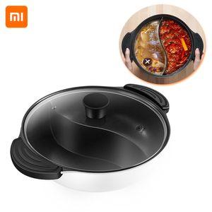 Xiaomi Youpin Hot Pot Antihaft-Induktionsherd Gasherd Kompatibler Topf Home Kitchen Kochgeschirr Suppe Kochtopf Twin Divided 4L