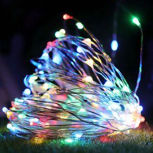 10M 100LED Lichterkette Bunt Kupferkabel Batteriebetrieben Party Garten Innen Außen Weihnachten Deko